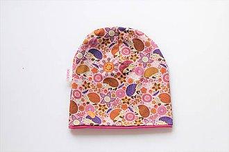"""Detské čiapky - Dvojvrstvová čiapka""""ježkovia"""" - 11154307_"""