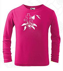 Detské oblečenie - Detské tričko s dlhým rukávom-DAMIDIZAJN (Ružová) - 11154244_