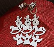 Dekorácie - Drevené vianočné ozdoby. Výber z najkrajších - 12 kusov - 11154850_