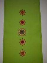 Úžitkový textil - Maľovaný obrus stredový,hráškový, 25 x 140 cm - 11154625_