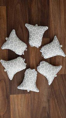 Dekorácie - Strieborné zvončeky s perlou - 11153345_