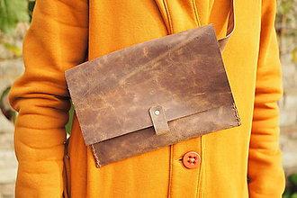 Iné tašky - Ledvinka -hnědá - 11152985_