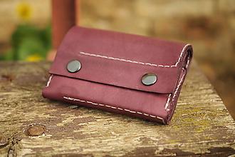 Peňaženky - Kožená peněženka MontMat -fialová - 11153033_