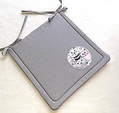Textil - Podsedák na školskú stoličku č.15 (šedý s mačičkami) - 11154097_