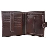 Tašky - Luxusná kožená peňaženka so zapínaním v tmavo hnedej farbe - 11154321_