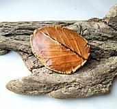 Odznaky/Brošne - Keramická brošňa- Jesenný list - 11154559_