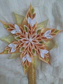 Dekorácie - Špic na stromček Hviezda - 11153435_