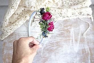 Ozdoby do vlasov - Kvetinová čelenka ,,ružičky,, - 11153770_