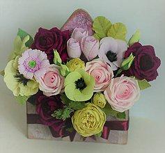 Darčekové poukážky - Kvety v krabici - 11153645_