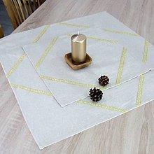 Úžitkový textil - GOLD - režná pretkávaná zlatom - vianočný štvorec - 11153283_