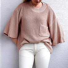 Svetre/Pulóvre - Ružový dámsky sveter - 100% Bambus - 11153818_