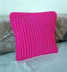 Úžitkový textil - Ružový vankúš Bobb - 11152961_