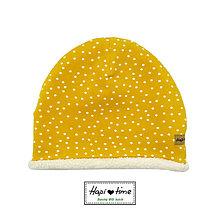 Detské čiapky - Vyteplená bio čiapka v piatich farbách - 11155032_