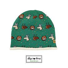 """Detské čiapky - Teplá bio čiapka """"lesné zvieratká"""" - 11155097_"""