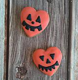 Dekorácie - Perníkové halloweenske srdce - 11153887_