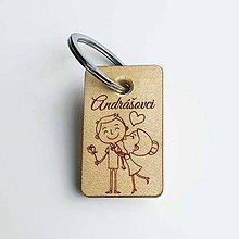 Kľúčenky - Drevená kľúčenka – personalizovaná - 11153186_