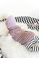 Detské oblečenie - .Mini boho vesta (vlna/alpaka) v zapúdrovanej staroružovej - 11153374_
