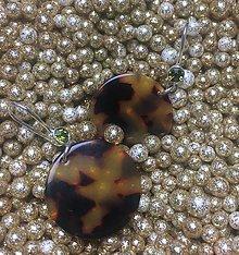 Náušnice - Tigrované okrúhle náušnice - 11154421_
