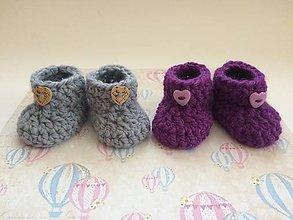 Topánočky - Papučky pre bábätko (Modrá) - 11153302_