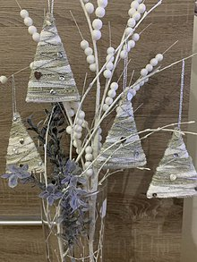 Dekorácie - Vianočné stromčeky na vianočné stromčeky 🌲🌲 - 11155913_