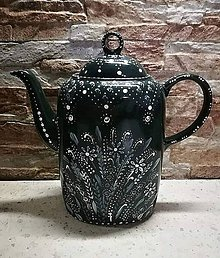 Nádoby - ručne maľovaný čajník - 11155816_
