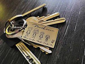 Kľúčenky - Gravírovaná klúčenka (personalizované) - 11154151_