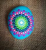 "Dekorácie - Maľovaný kameň mandala ""Be positive"" - 11154349_"