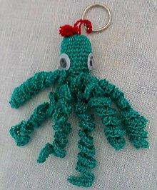 Kľúčenky - Prívesok na kľúče - chobotnička - 11154408_