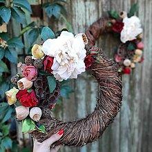 Dekorácie - Jesenný veniec - 11154194_