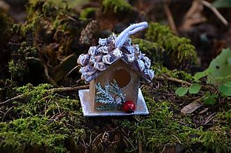 Dekorácie - vianočná ozdoba - vtáčie domčeky/búdky - 11153051_