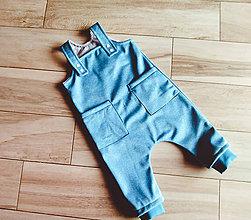 Detské oblečenie - Softshelove nohavice na traky - 11154339_
