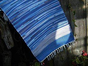 Úžitkový textil - Tkaný koberec modro-sivý - 11154884_