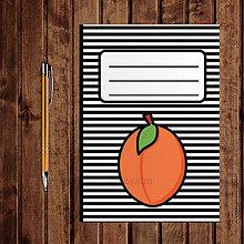 Papiernictvo - Zápisník ovocie - pruhovaný  (marhuľa) - 11154248_