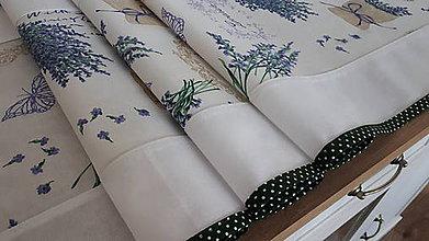 Úžitkový textil - Stredový obrus (Lavande s bodkovaným lemom) - 11156707_