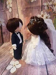 Bábiky - Svadobný pár - 11157429_