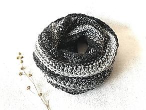 """Šály - Nákrčník """"Basic"""" (Sivo - čierny melír) - 11157069_"""