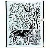 Pomôcky/Nástroje - Šablóna Stamperia - 20x25 cm - Cosmos deer - 11157700_