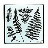 Pomôcky/Nástroje - Šablóna Stamperia - 18x18 cm - Leaves - 11159037_