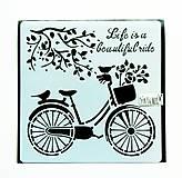 Pomôcky/Nástroje - Šablóna Stamperia - 18x18 cm - Bicycle - 11159158_