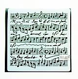 Pomôcky/Nástroje - Šablóna Stamperia - 18x18 cm - Music scores - 11159221_