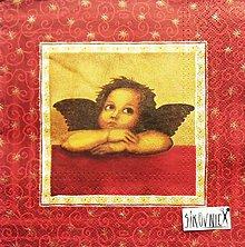 Papier - S1445 - Servítky - Vianoce, anjel, rafael - 11157591_