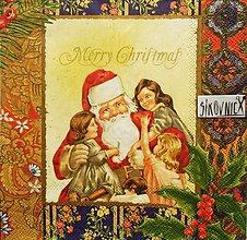Papier - S1446 - Servítky - Vianoce, deti, mikuláš - 11157596_