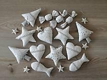 Dekorácie - Vianočné ozdoby strieborné-sada - 11157944_