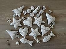 Dekorácie - Vianočné ozdoby strieborné-sada - 11157945_