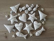 Dekorácie - Vianočné ozdoby strieborné-sada - 11157949_