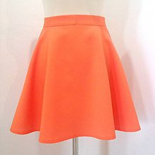Sukne - Oranžová polkruhová sukňa - 11158365_