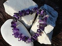 Náramky - ametista violeta-ametyst-náramok - 11160831_