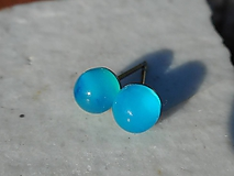 Náušnice - agata blue-modrý achát-naušnice - 11161088_