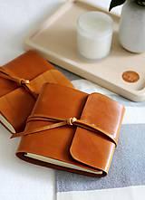 Papiernictvo - Kožený zápisník PUREHOME - 11158164_