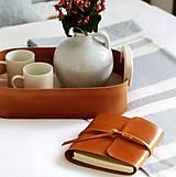 Papiernictvo - Kožený zápisník PUREHOME - 11158212_